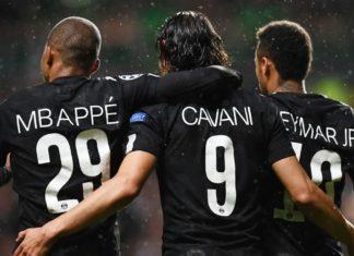 Neymar, Mbappe si Cavani, jucatori PSG